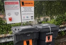 trash cans at Clean Camp